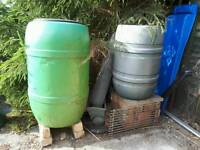 FREE WATER BUTTS AND GARDEN INCINERATOR