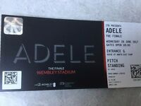Adele - Weds 28 June 2x Standing Tickets, Opening Night at Wembley