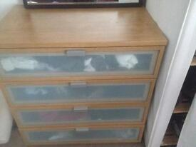 Set of 2 large oak drawers from ikea