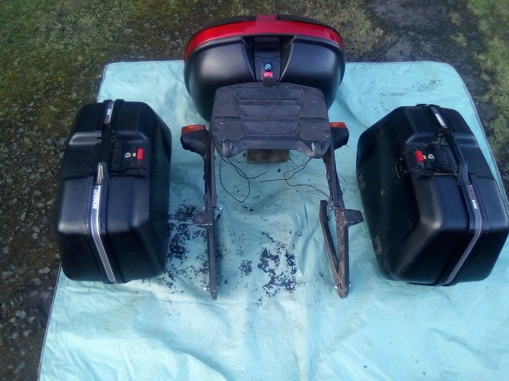 Givi wing rack and panniers ( Panniers and top box )