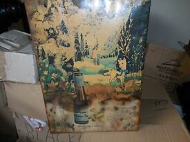 BABYCHAM VINTAGE SIGN COLLECTABLE CHADDESDEN DERBY