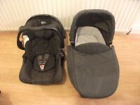 Graco(evo) car seat, carrycot