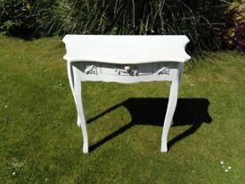 Shabby chic dressing table/ occasional table with a small drawer.