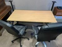 Large Office / Studio Desk & 2 Office Chairs