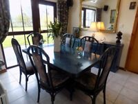 Dining Table with 8 chairs and Matching Sideboard