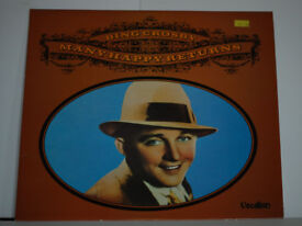 Many Happy Returns Bing Crosby Album. Record in excellent condtion. Sleeve in quite good condition.