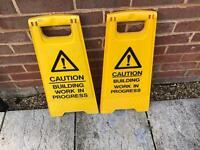 Building Work Warning Safety Signs Hazard