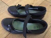 Girls Clark's School Shoes 2 and half E