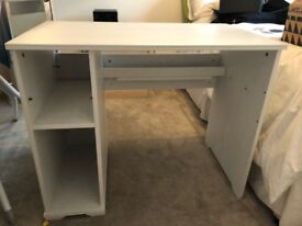 WHITE COMPUTER DESK FROM IKEA- USED SLIGHTLY MARKED