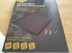 Solar powered battery maintainer
