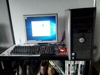 Dell Dual Core Full PC Set-up inc WI-FI Monitor Keyboard and Mouse (Tower-Computer-Desktop)