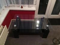 Range glass coffee table