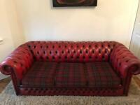 Vintage Oxblood Chesterfield Sofa