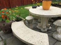 garden furniture table benches stools