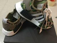 Adidas NMD R1 BAPE BA7321 GREEN CAMO New with Box