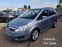 Vauxhall Zafira Exclusive 1.6 Petrol / Manual 7 Seat MPV, Beautiful Condition Throughout, New MOT.