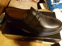 Amblers safely shoes uk size 10 Black leather