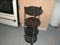 Old Cast Iron 4 Tier Pan Stand!!