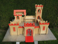 ELC large wooden play toy CASTLE or FORT complete with instructions
