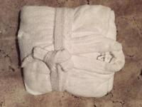 White dressing gown large