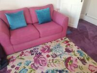 Dfs 2 Seater Sofa with Rug and Cushions