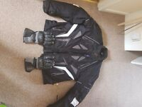 XXXX L Motorcycle Jacket XXL Helmet and gloves all good condition £50 the lot