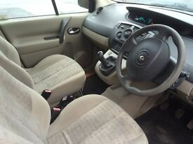 Renault scenic grand petrol blue good condition throughout drives perfect 6 months m.o.t 7 seater