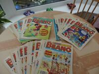 51 Beano Magazines and 1989 Calendar