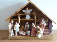 A table top Nativity Scene in very good condition-see the photo