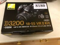 Nikon D3200 DSLR Camera, brand new, boxed