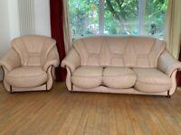 2 Piece Leather Sofa Set