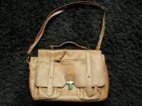 Ladies brown satchel bag