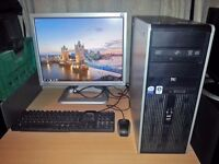 "HP Compaq dc7800 Desktop PC - 2.40 GHz Quad Core, 4GB, 160Gb & 21"" Monitor"