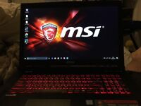 MSI Gaming Laptop 3 months old