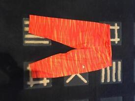 Adidas cropped orange leggings