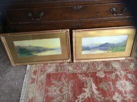 6e8406cf4c94 Antique Sepia paintings x 2