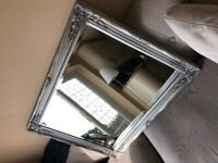 Silver Antique Ornate Mirror - Large