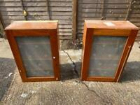 Cabinets - pair, glazed