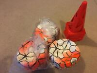 3x Nike Footballs & 18x Training Cones