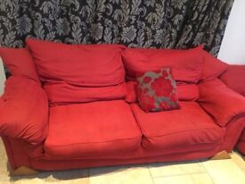 Sofa & 2 matching Armchairs - only £70!!