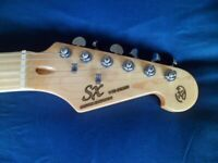 SET OF SX RIGHT HAND STRAT CHROME DIE-CAST TUNERS.