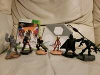 Bundle of 6 Disney infinity 3.0 figures plus game and portal for xbox 360