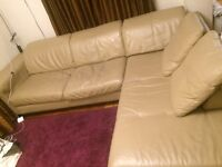 ***Real leather corner sofa ***+ can deliver