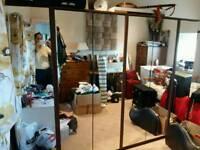 Mirrored wardrobes (x3)