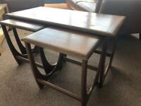 Nest of mid century coffee table and two side tables