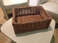 6 Small Wicker Baskets - Produce Display & Storage (31cm x40cm x16cm) - MUST GO