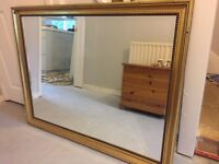 Very large gilt mirror