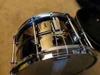 Worldmax 13x7 black brass snare & case