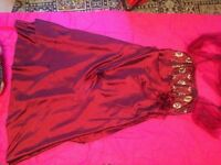 2 toned red dress (red and black) long prom/bridesmaids dress. Size 24