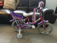 "Girls Bike 14"" with stabilisers"
